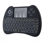 Tastatura Wireless Techstar® H9 Iluminata ALB 3 Nivele , QWERTY, Plug&Play