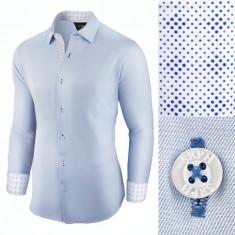 Camasa pentru barbati, casual, bleu, regular fit - Business Class Ultra, L, M, S, XL, XXL, Maneca lunga