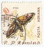 Romania LP 505/1960, Fluturi, deplasare dantelura, obliterat