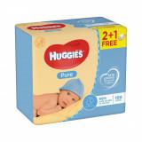 Servetele umede Huggies Pure, 2 + 1, 168 buc