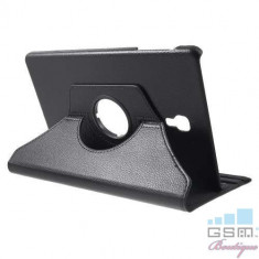 Husa Flip Cu Stand Samsung Galaxy Tab A 10,5 2018 T590 T595 Rotire 360 De Grade Neagra