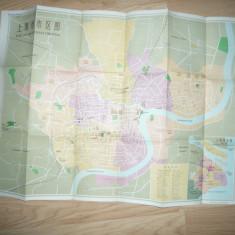 Harta veche Shanghai ,China , dim.= 73x52cm