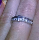 argint 925 ! ,  inel deosebit finut cu zirconii