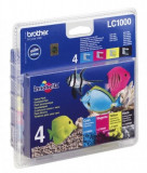 MULTIPACK CMYK LC1000VALBP ORIGINAL BROTHER MFC 5460CN,LC1000VALBP, Multicolor