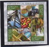 NORFOLK ISLAND 2003 Recoltarea semintelor de Palmier Bloc cu 4 timbre MNH**, Nestampilat