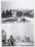 Bnk foto - Ploiesti - Lot 2 fotografii - centrul - anii `80, Alb-Negru, Cladiri, Romania de la 1950