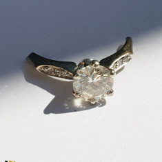 Montura Inel din Aur 18k, Diamant cca. 1 ct, 2.19 grame