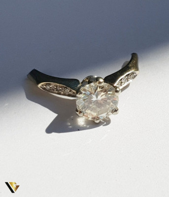 Montura Inel din Aur 18k, Diamant cca. 1 ct, 2.19 grame foto