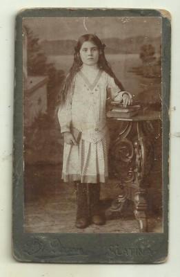 Fotografie pe carton Degen Slatina - cca 1900 foto