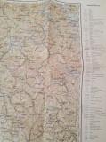 Harta topografica/militara a zonei Sighet, tiparita la Viena