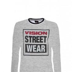 Bluza Vision Street Wear Raglan Crew Logo Grey M