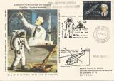 România, 20 de ani de la primul pas pe lună, plic circulat, 1989