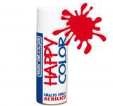 Spray vopsea Rosu Trafic Ral 3020 HappyColor Acrilic, 400ml Kft Auto