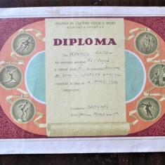 Diploma veche, Perioada Comunista. Romania 1962. A.S. Flamura Rosie - Schi