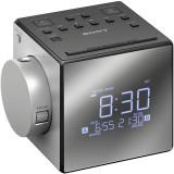 Radio cu ceas Sony ICFC1PJ, cu proiectie si alarma, Negru
