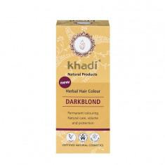 Vopsea de par naturala Blond Inchis, 100gr - Khadi