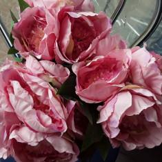 Buchet flori artificiale - Ranunculus 6 fire PINK ,  înălțime 30 cm