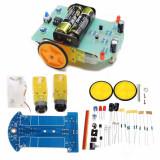 Set complet ROBOTICA MECATRONICA ROBOT cu autoghidare dupa linie neagra