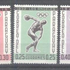 Paraguay 1962 Sport, Olympics, MNH A.144