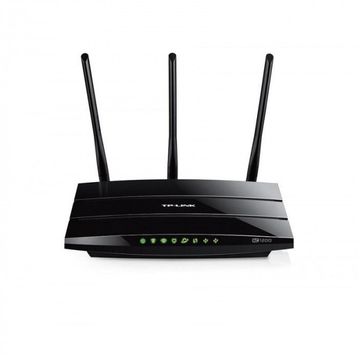 Router wireless tp-link archer c1200 4*10/100/1000mbps lan ports 1*10/100/1000mbps wan port 3 antene dual-band ac1200