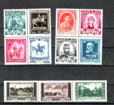 Romania  1938    Centenarul   nasterii  Regelui  Carol  I  -  3  blocuri, Regi, Nestampilat