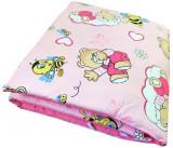 Set de aparatori pufoase h39 pat 140x70 cm DeLuxe Ursi cu albine pe roz, Deseda