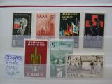 1955-1956-Saarland-7 seturi- MNH-Perfect, Nestampilat