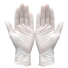Cutie 100x Manusi Examinare, Latex, Texturate, Usor Pudrate, Albe, Unica Folosinta