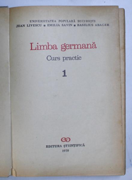 LIMBA GERMANA , CURS PRACTIC 1 de JEAN LIVESCU...BASILIUS ABAGER 1970