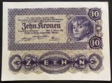 Bancnota ISTORICA 10 COROANE - AUSTRO-UNGARIA (AUSTRIA), anul 1922   *cod 867 C