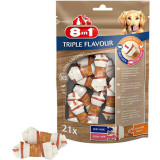 8in1 Recompense Triple Flavour XS 21buc, pentru 2-12kg, Recompense caini