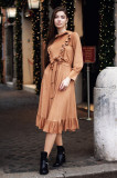 Rochie romantică cu volane