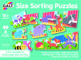 Set 6 puzzle - Animalute jucause (3 piese) PlayLearn Toys, Galt