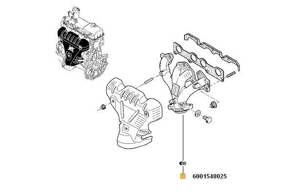 Colector Esapament Logan, Sandero Renault 6001548025