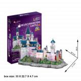 Cumpara ieftin Puzzle 3D LED Castelul Neuschwanstein, CubicFun
