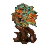 Decoratiune multicolora Leu, Savana Style, 15 x 31 cm