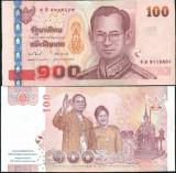 Bancnota Thailanda 100 Baht (2010) - P123 UNC ( comemorativa )