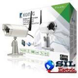 Camera supraveghere video IP de exterior 720p argintie Konig