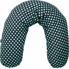 Perna pentru gravide si alaptat Comfort Exclusive Womar Zaffiro, 170 cm, Turcoaz/Gri