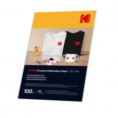 Hartie pentru sublimare, format A4, 100g/mp, top 100 coli, Kodak