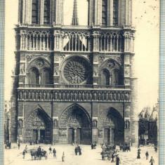 AD 391 C. P.VECHE-PARIS-NOTRE DAME-CIRCULATA1909-CATRE SERBAN OTETELESANU,SINAIA