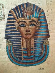 Papirus Egipt Tutankhamun foto