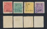 Romania anii 1930 judetul Bihor taxa de pavaj Oradea 4 timbre fiscale locale