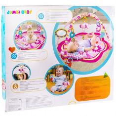 Covoras cu jucarii pentru bebelusi, I-JMB, 85x85x45 cm, roz