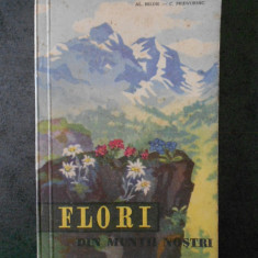AL. BELDIE - FLORI DIN MUNTII NOSTRI  (1959, cu 24 de planse color)
