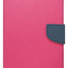 "Husa tip carte Mercury Goospery Fancy Diary roz + bleumarin pentru Samsung Galaxy Tab 4 (SM-T230), Tab 4 LTE (SM-T235) 7"""