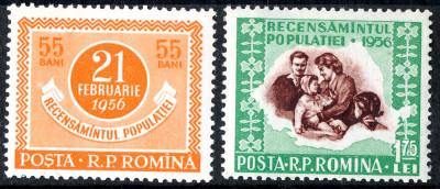 1956 LP403 serie  Recensamantul populatiei MNH foto
