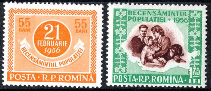 1956 LP403 serie  Recensamantul populatiei MNH