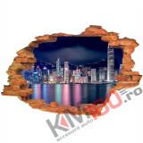 """Sticker """"Wall Crack"""" Hongkong 4 - 120 x 80 cm"""