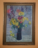 Tablou Vasile Varga Natura Statica, Flori, Ulei, Impresionism